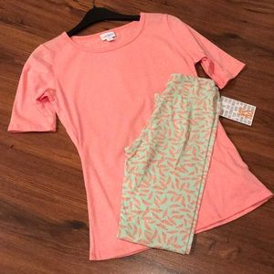NWT LULAROE OUTFIT Gigi and Tween leggings